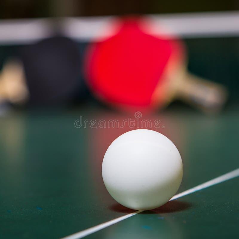 乒乓球和乒乓球 库存照片