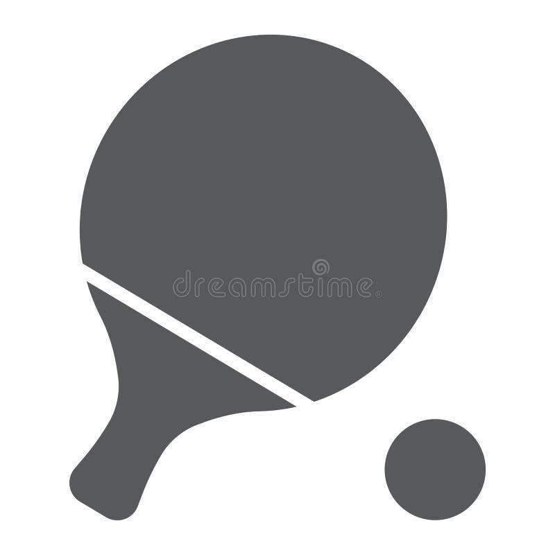 乒乓球纵的沟纹象、比赛和体育,球拍标志 皇族释放例证