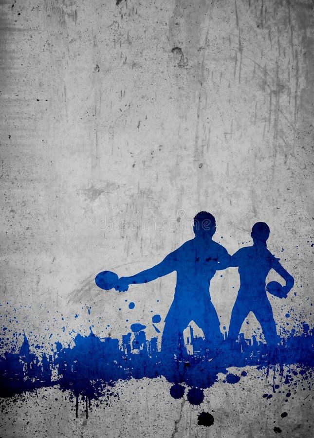 乒乓球背景 图库摄影
