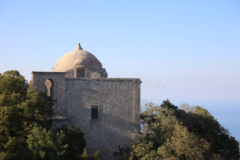 乔凡尼教会在埃里切 特拉帕尼省 西西里岛 库存照片