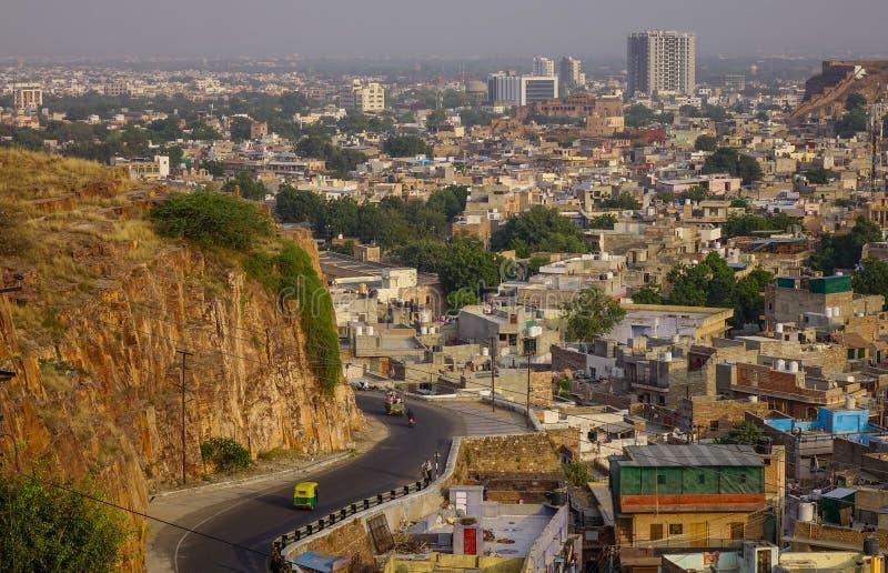 乔德普尔城,印度鸟瞰图  库存照片