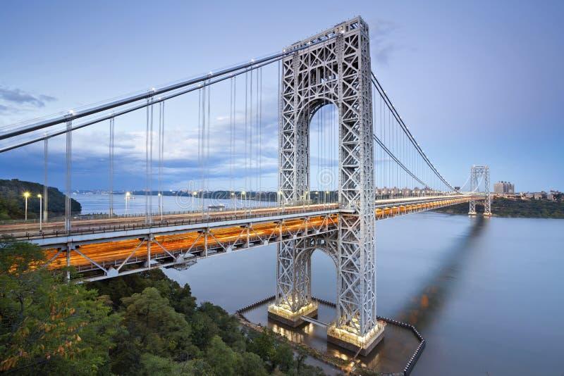 乔治・华盛顿大桥,纽约。 免版税库存图片