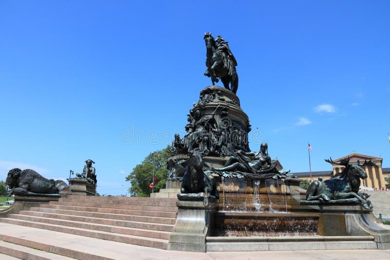 乔治・华盛顿,费城 免版税库存图片
