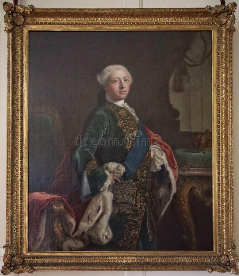 乔治三世国王画象,当威尔士亲王 免版税库存照片