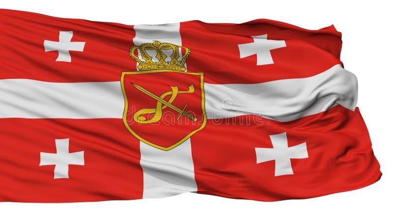 乔治亚主要军事旗子,隔绝在白色 向量例证