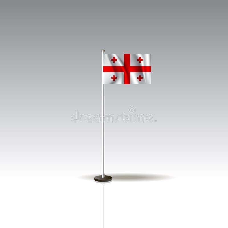 乔治亚国家的旗子例证  在灰色背景隔绝的全国乔治亚旗子 EPS10 向量例证