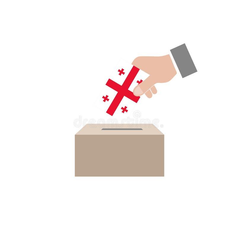 乔治亚竞选投票箱 向量例证