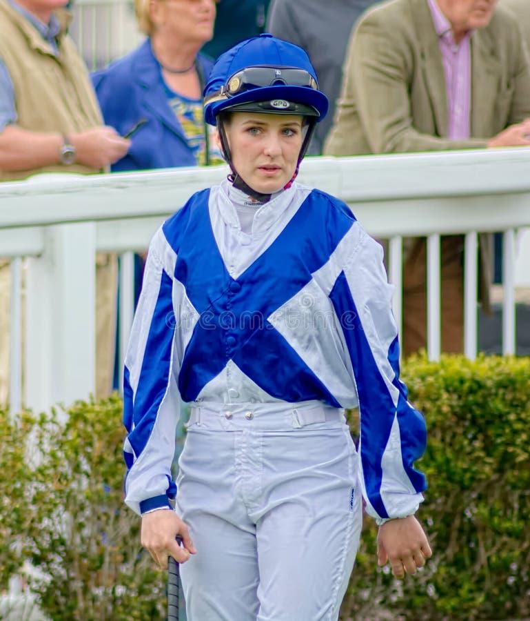 乔治亚Dobie,女性学徒赛马骑师 ?? 图库摄影