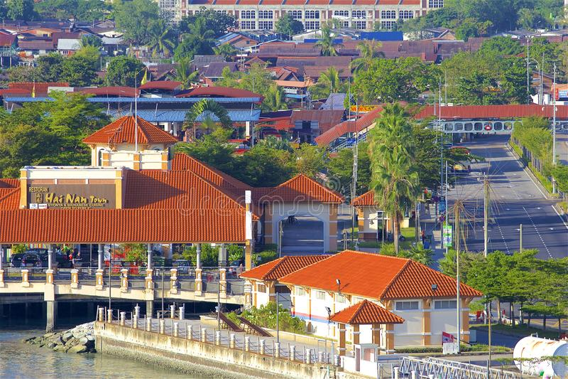 乔治城,槟榔岛看法  库存图片