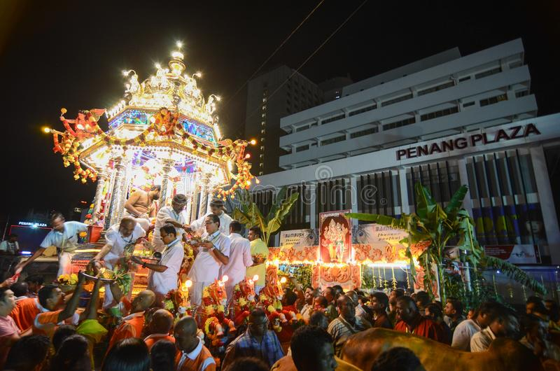 """乔治城, PENANG/MALAYSIA †""""大约2016年1月:印度献身者 库存图片"""