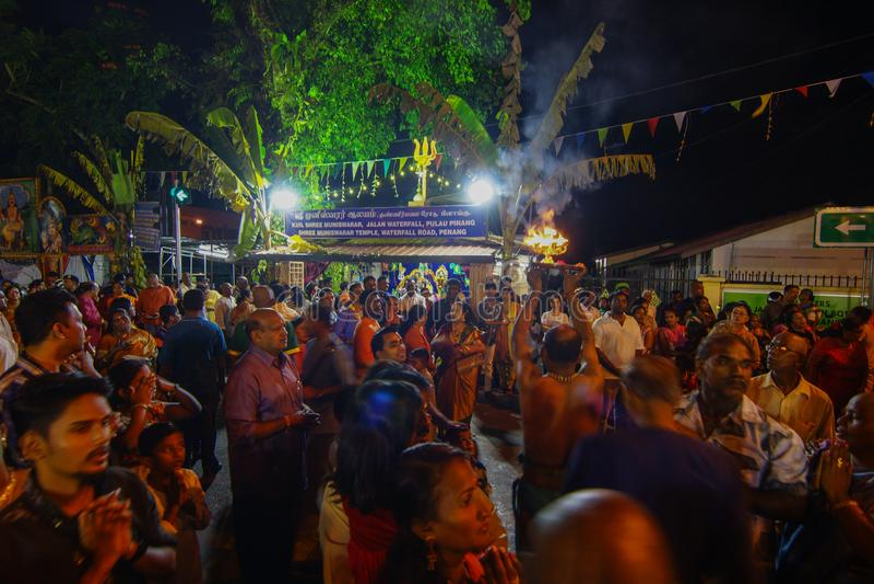 """乔治城, PENANG/MALAYSIA †""""大约2016年1月:印度献身者ful 免版税库存照片"""