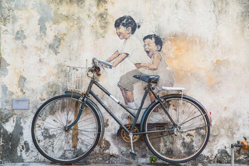 乔治市,槟榔岛,大约2015年3月26日的马来西亚:公开stree 库存照片