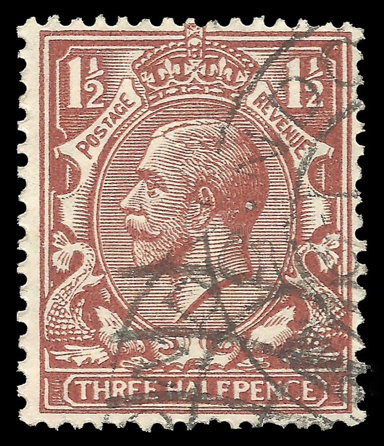 乔治第5,三国王halfpence 免版税库存照片