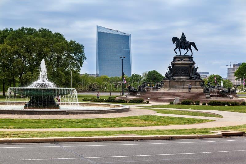 乔治纪念碑费城华盛顿 免版税库存照片