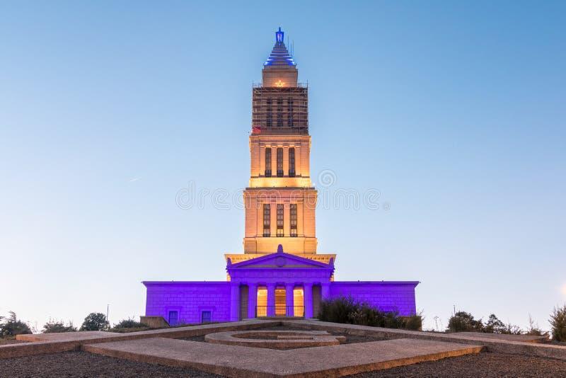 乔治・华盛顿共济会国家纪念堂在亚历山大VA 免版税图库摄影