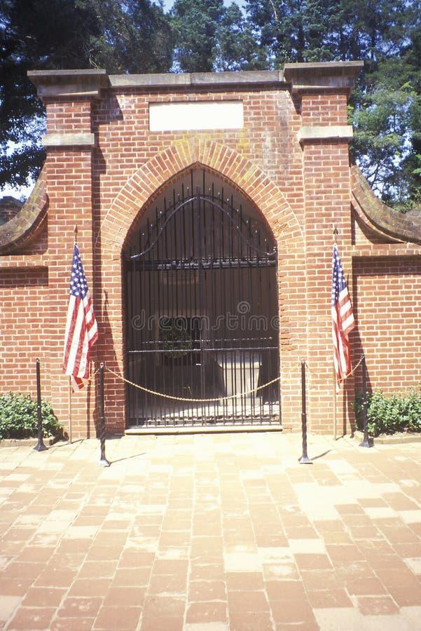 乔治・华盛顿埋葬坟茔Mt的 弗农,亚历山大,弗吉尼亚 库存照片
