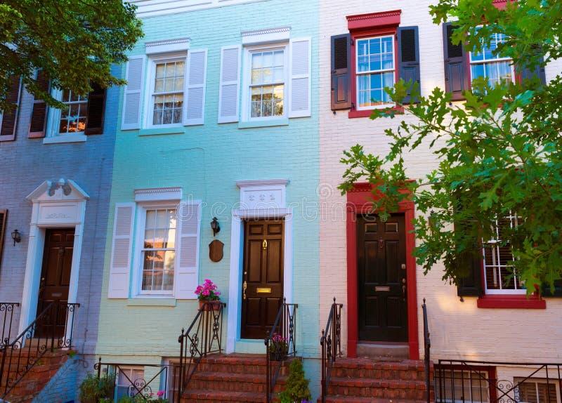 乔治城历史区门面华盛顿 库存图片