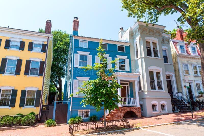 乔治城历史区门面华盛顿 免版税库存图片