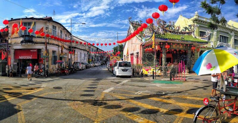 乔治城,槟榔岛,马来西亚看法  免版税库存图片