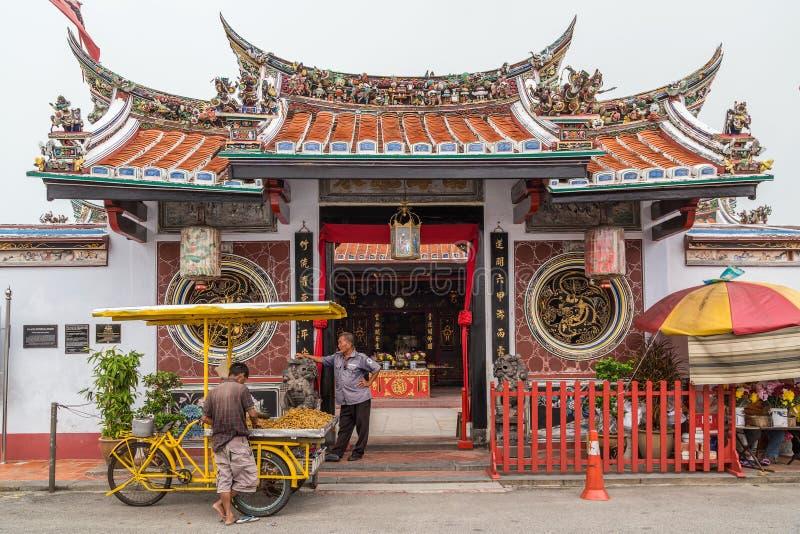 乔治城,槟榔岛/马来西亚-大约2015年10月:城Hoon滕国中国佛教寺庙在乔治城,槟榔岛,马来西亚 库存照片