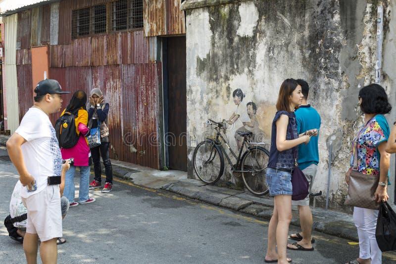 乔治市,槟榔岛,大约2015年9月06日的马来西亚:公众 免版税库存图片