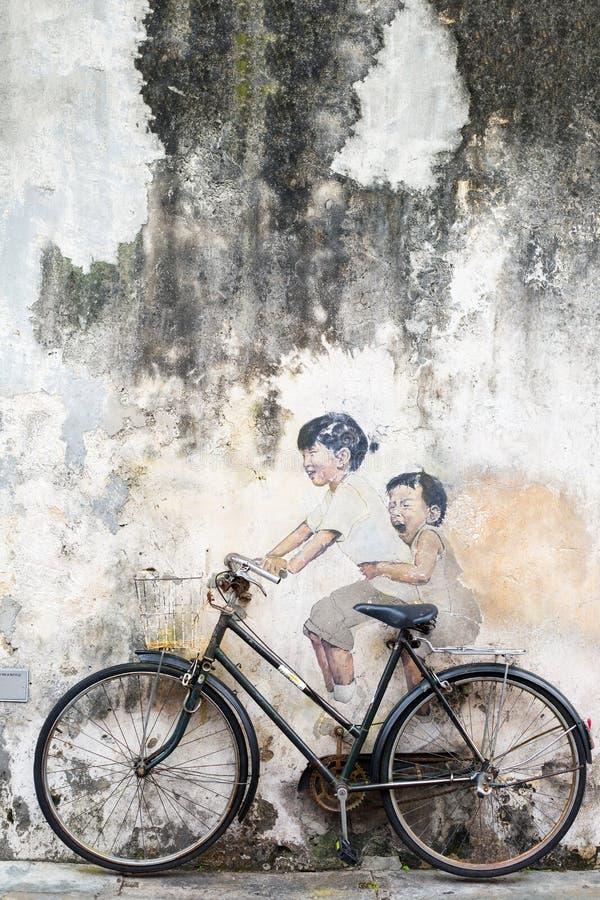乔治市,槟榔岛,大约2015年10月23日的马来西亚:公众st 库存照片
