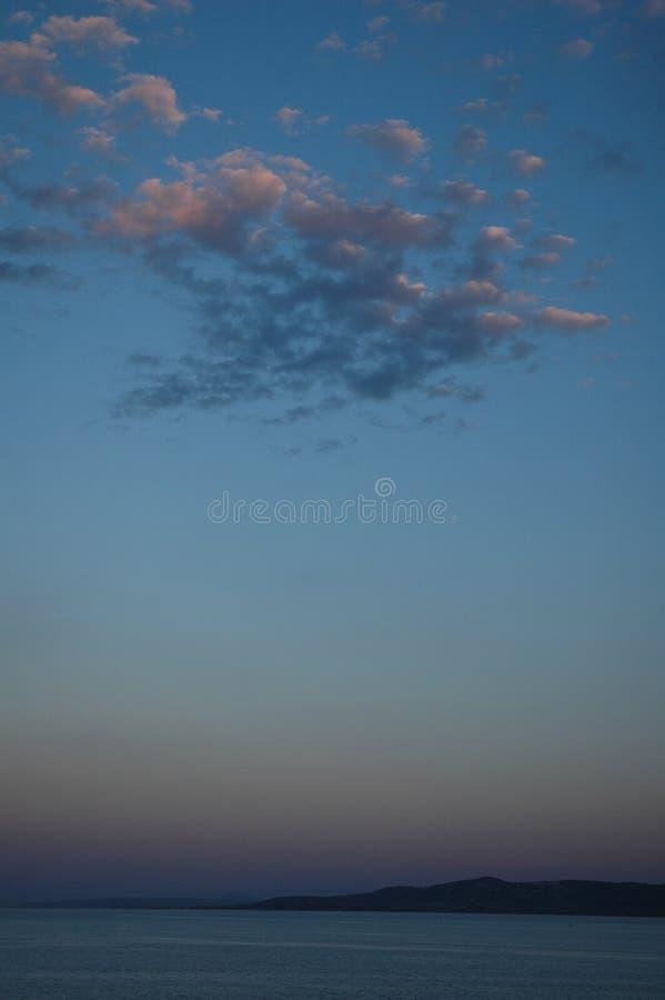 贴水乔治斯- Lihada - Evia海岛-一个平安的场面 库存照片
