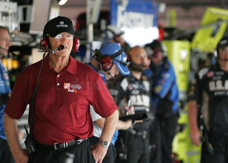 乔Gibbs在停车库区 免版税库存照片