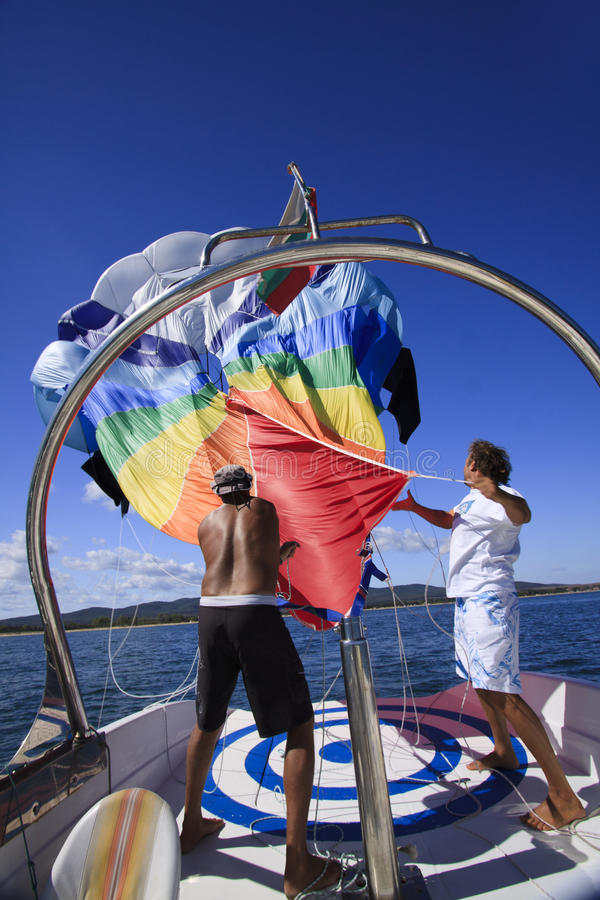 乘员组帆伞运动 库存照片