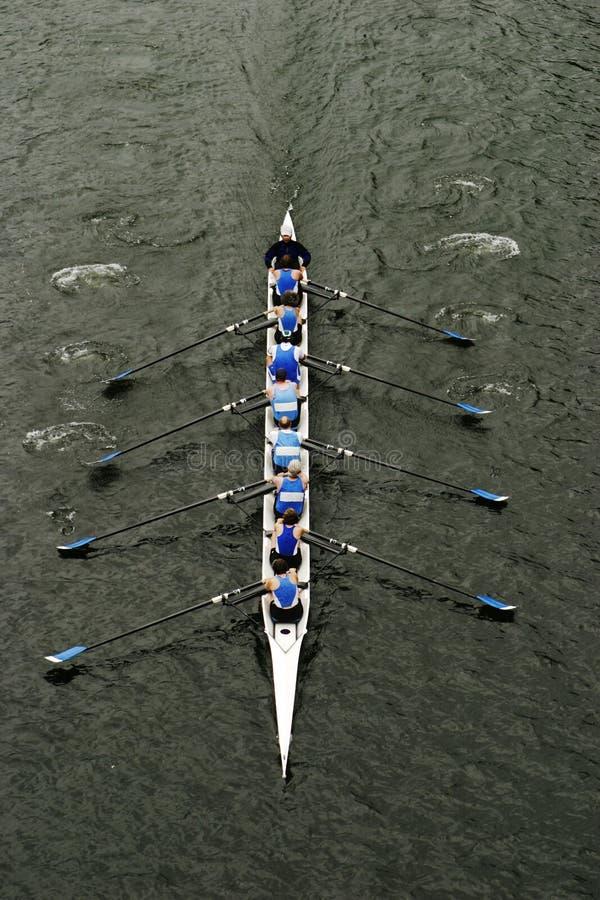乘员组赛跑划船 免版税库存照片