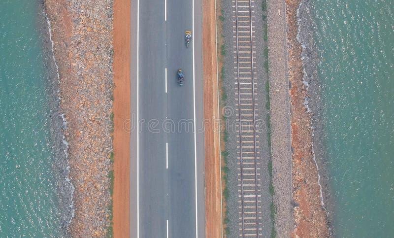 乘坐的三条道路 库存图片