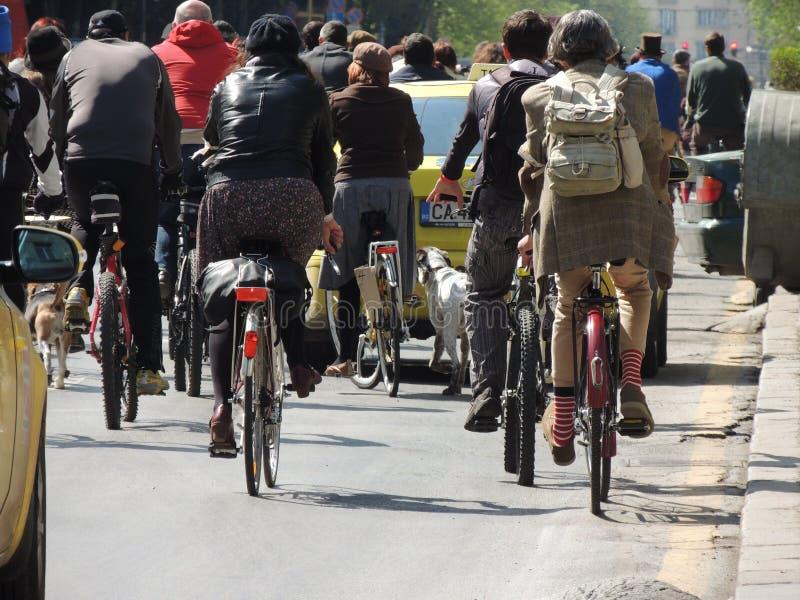 乘坐自行车 免版税图库摄影