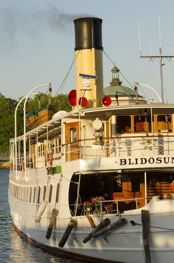 乘客火轮S/S Blidösund 库存照片