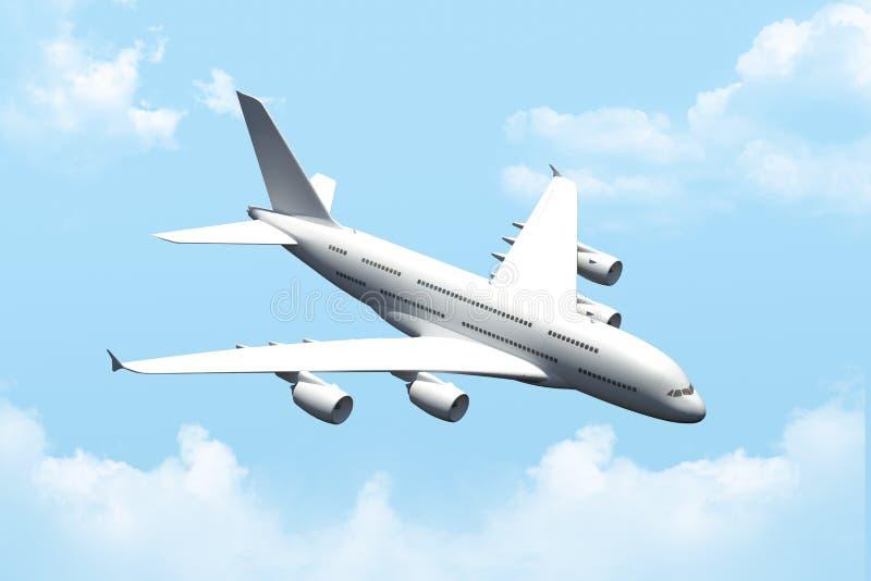 乘客空中飞机飞行 免版税库存照片