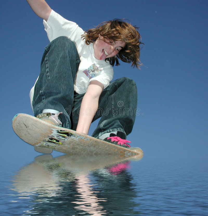 乘水上飞机青少年 免版税图库摄影