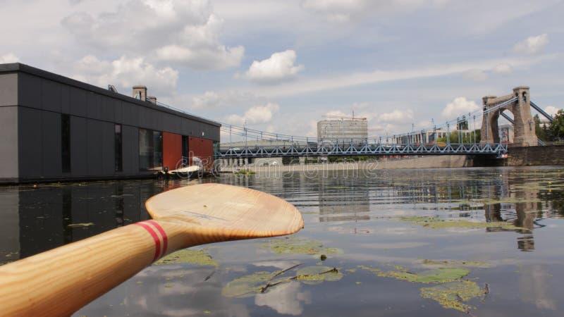 乘独木舟在弗罗茨瓦夫 库存图片