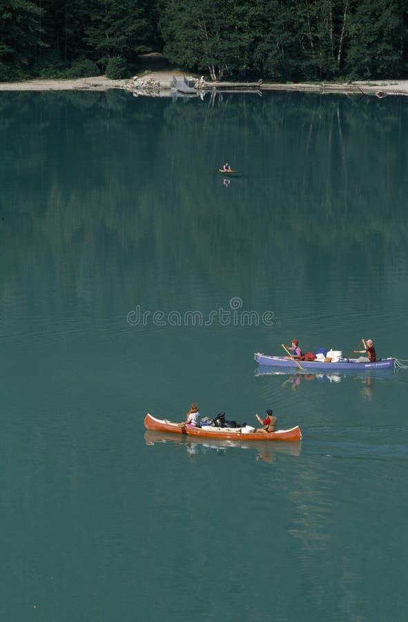 乘独木舟Diablo湖 库存图片