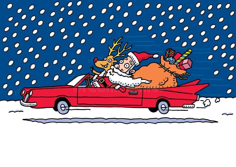 乘驾s圣诞老人 向量例证