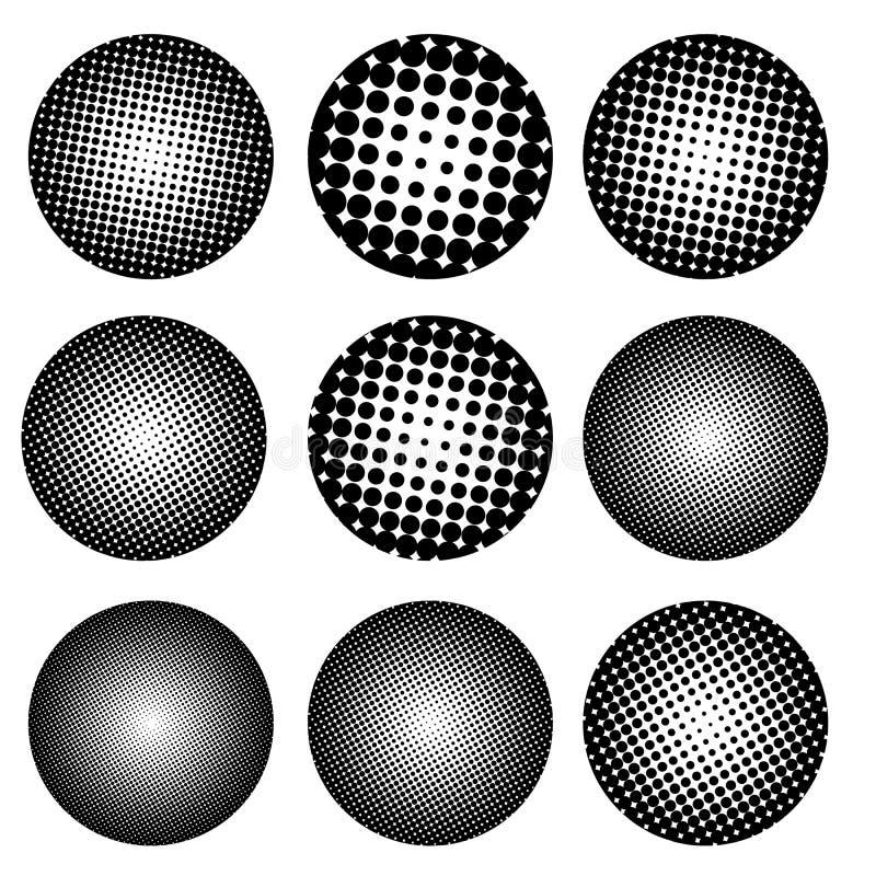 九个斑点 传染媒介元素 商标的,框架设计 皇族释放例证
