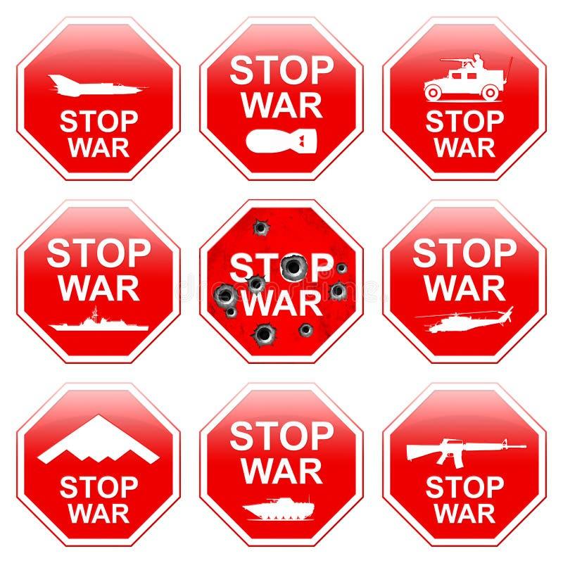 九个标志中止战争 皇族释放例证