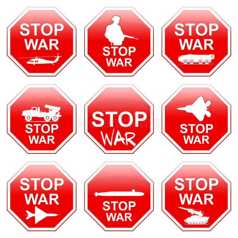 九个标志中止战争 向量例证