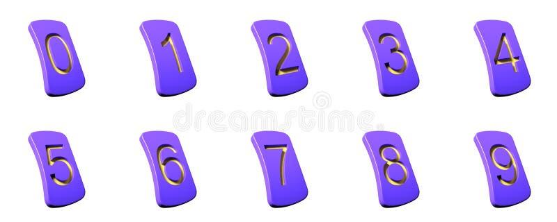 九个编号到零 库存照片