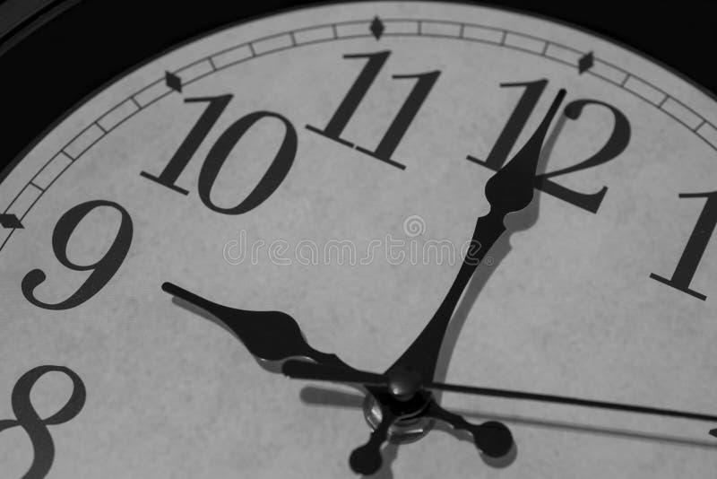 九个o `时钟锐利 图库摄影