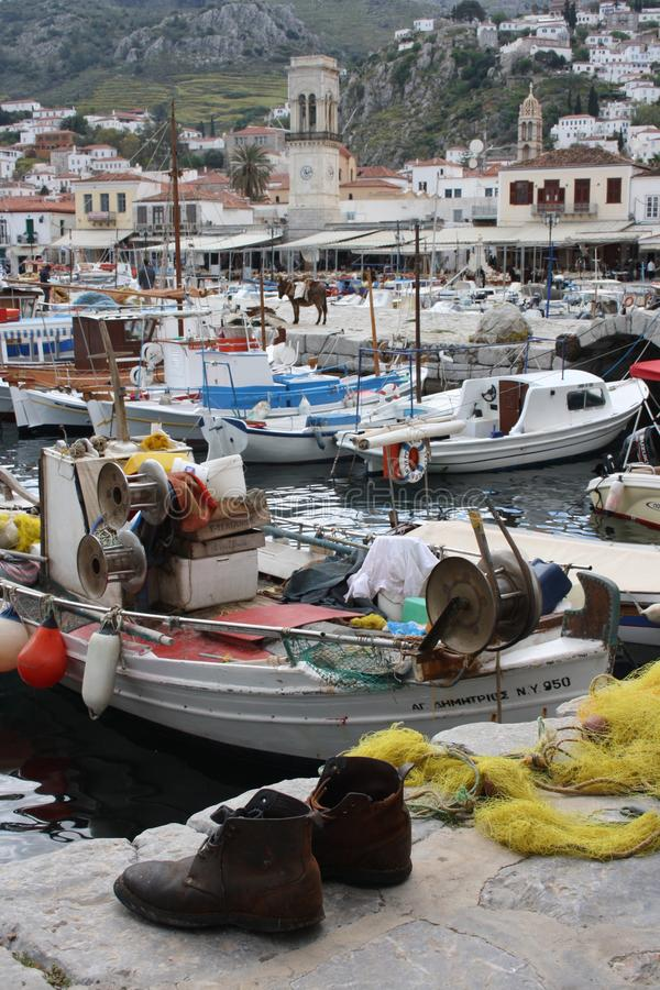 九头蛇希腊海岛 库存照片
