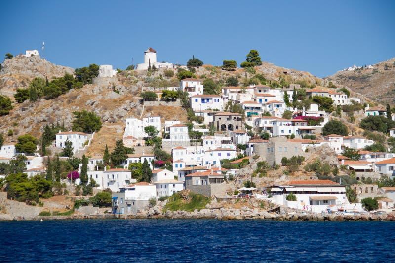 九头蛇海岛在希腊 免版税图库摄影