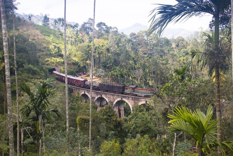 九曲拱桥梁在埃拉,斯里兰卡 免版税库存照片