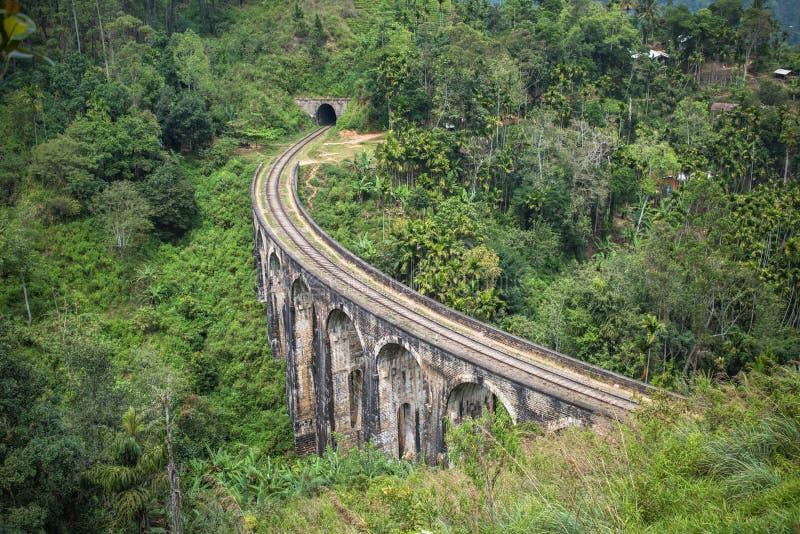 九曲拱桥梁,埃拉,斯里兰卡 库存图片