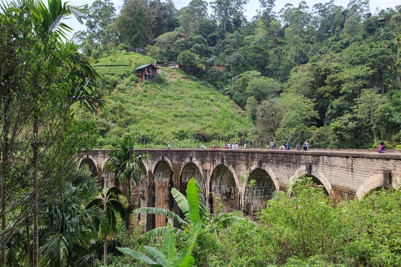 九曲拱BridgeElla,斯里兰卡 库存照片
