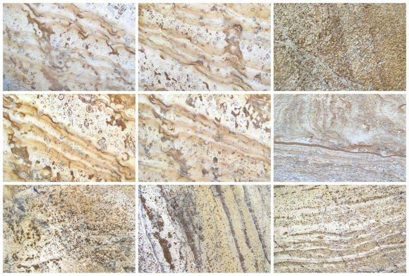 九自然石灰石背景或纹理 免版税图库摄影