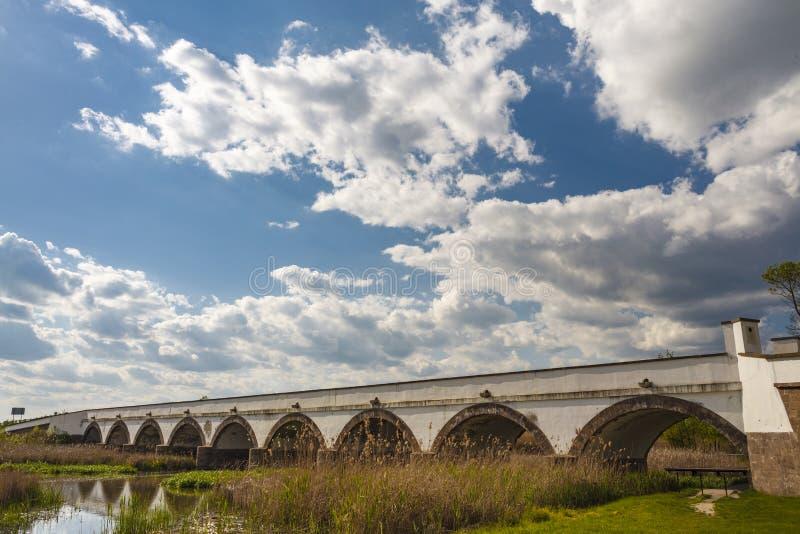 九被成拱形的桥梁在匈牙利 图库摄影